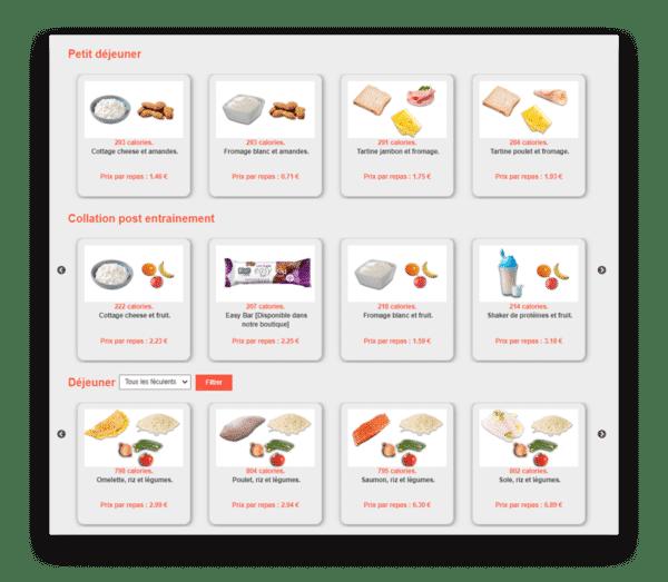 selection repas