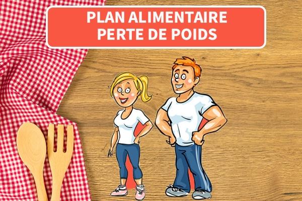 plan alimentaire perte de poids