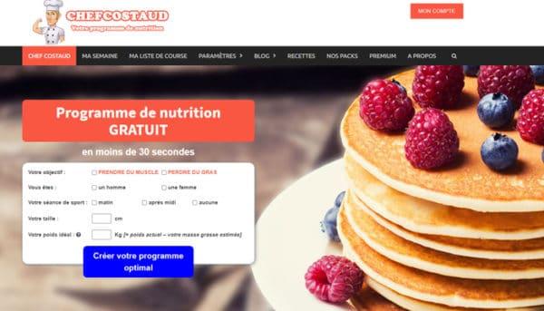 site de nutrition chefcostaud