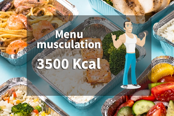 menu musculation 3500 calories