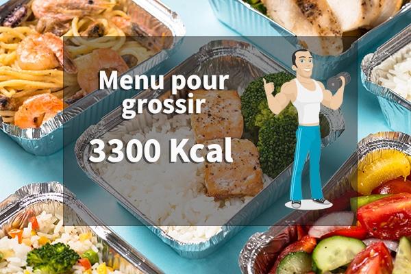 menu pour grossir 3300 calories