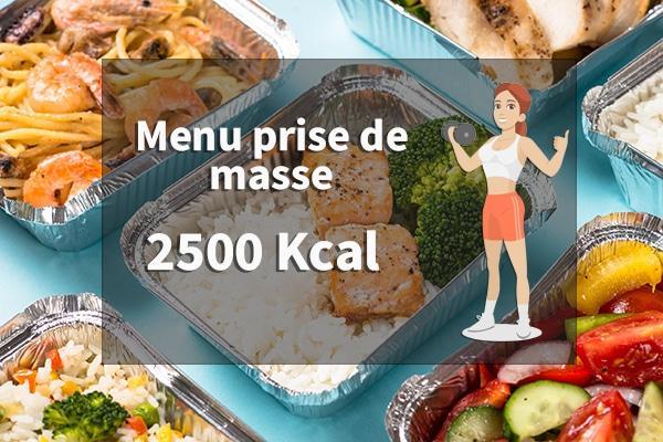 menu prise de masse femme 2500 calories 3