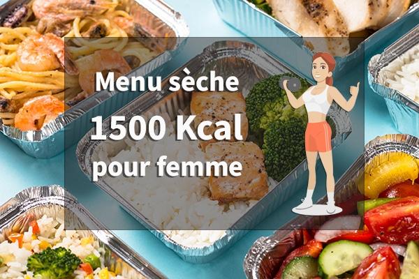 menu seche femme 1500 calories