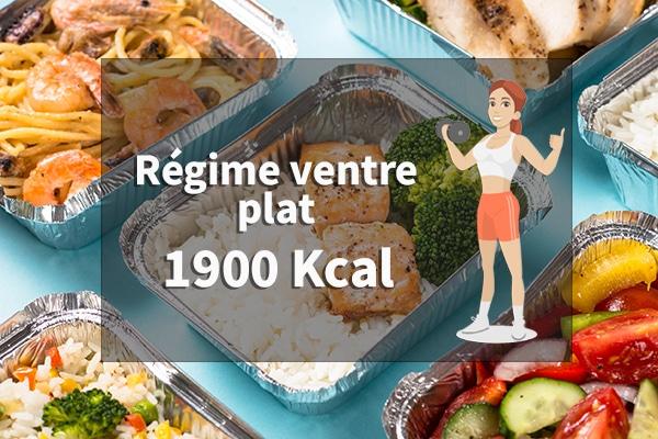 régime ventre plat 1900 calories